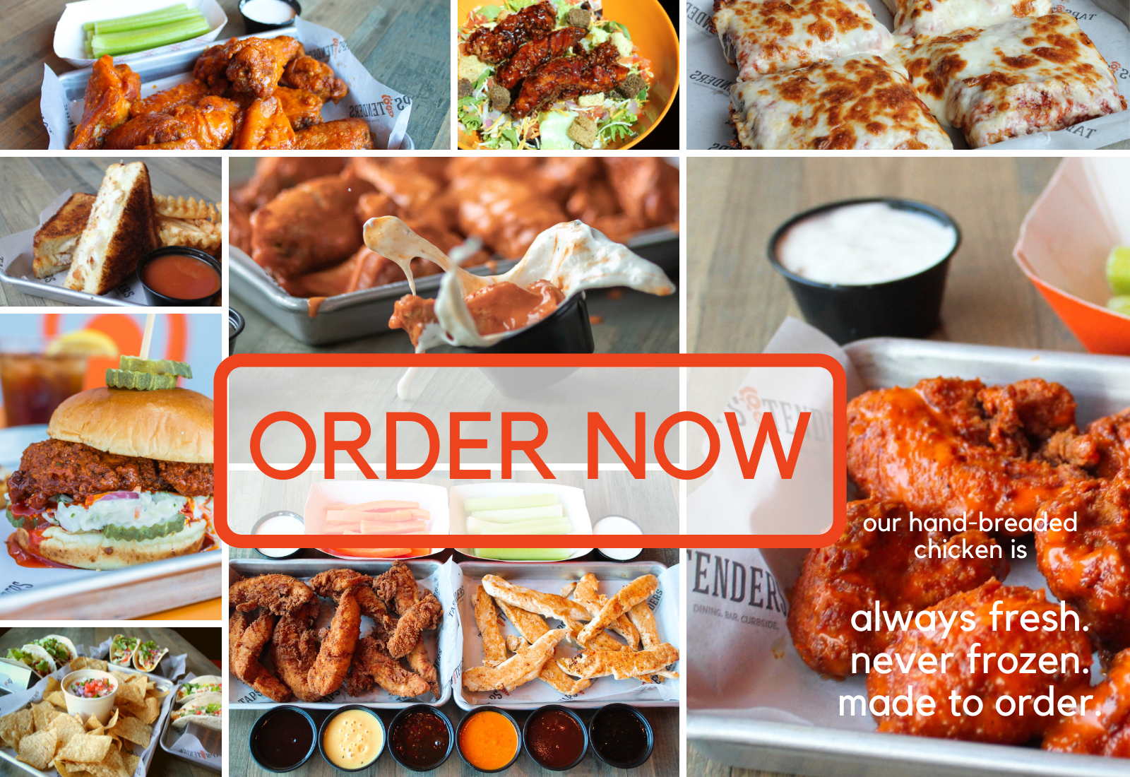 Taps N Tenders Order Now Button